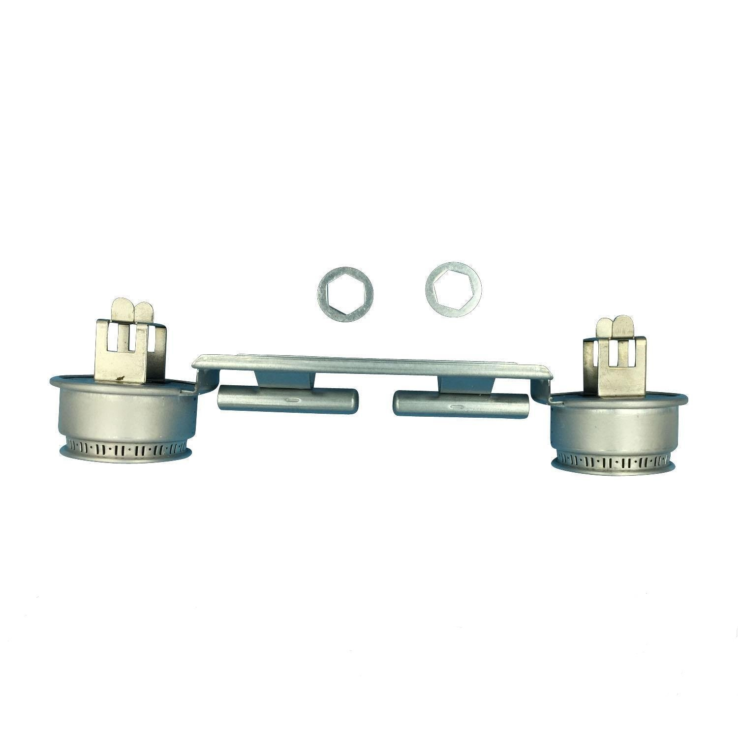 GE WB16K10026 Double Burner Assembly